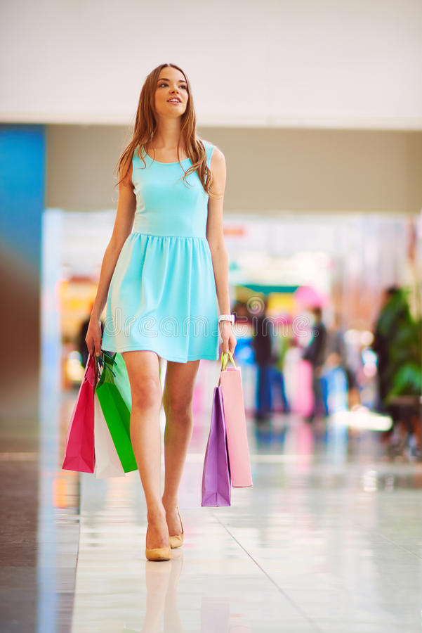 Shopper in the mall royalty free stock images
