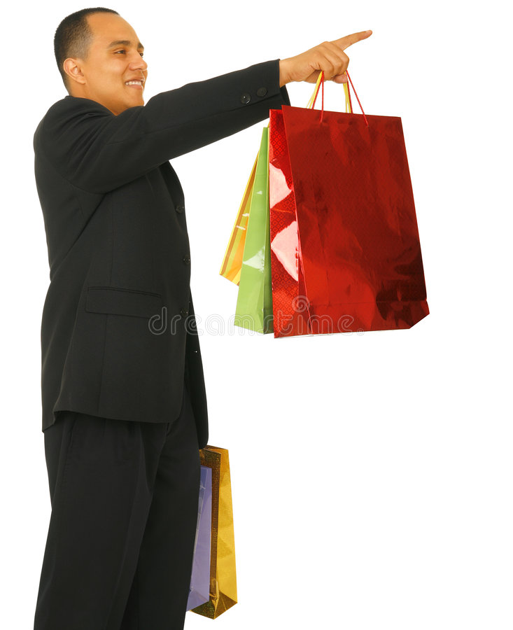Free Shopper Pointing Up Stock Images - 5324544