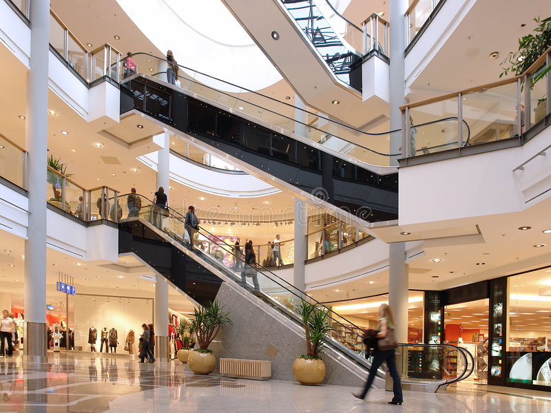Shoppers royalty free stock images
