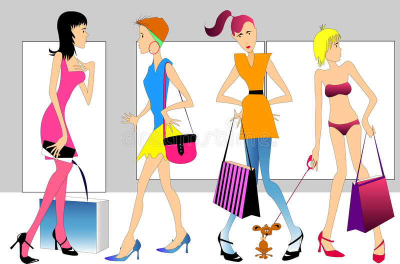 Download Shoppers stock vector. Image of center, accessories, perfection - 2696705