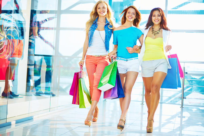Shoppers in the mall royalty free stock photo