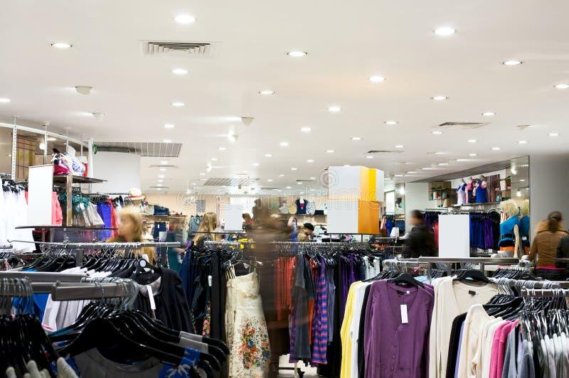 Shoppers at shopping center stock photos