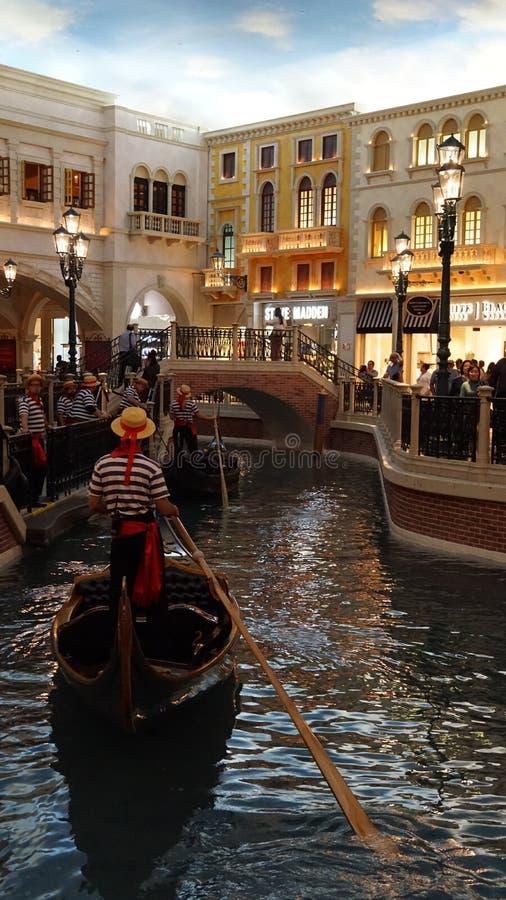 Shoppes de Grand Canal en el casino veneciano del hotel turístico en Las Vegas fotografía de archivo libre de regalías