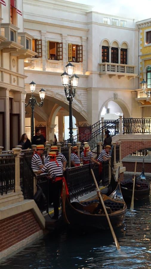 Shoppes de Grand Canal en el casino veneciano del hotel turístico en Las Vegas imagenes de archivo