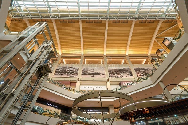 The Shoppes at Marina Bay Sands. SINGAPORE - NOVEMBER 08, 2015: interior of The Shoppes at Marina Bay Sands. The Shoppes at Marina Bay Sands is one of Singapore' stock photos