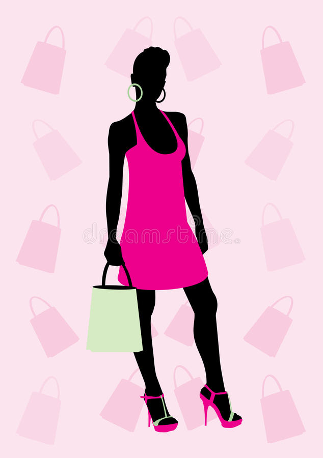 Download Shopping stock vector. Illustration of dress, illustration - 10502734