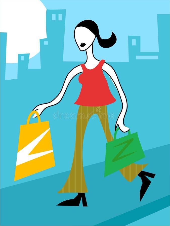 Download Shopping stock vector. Illustration of customer, consumer - 115518