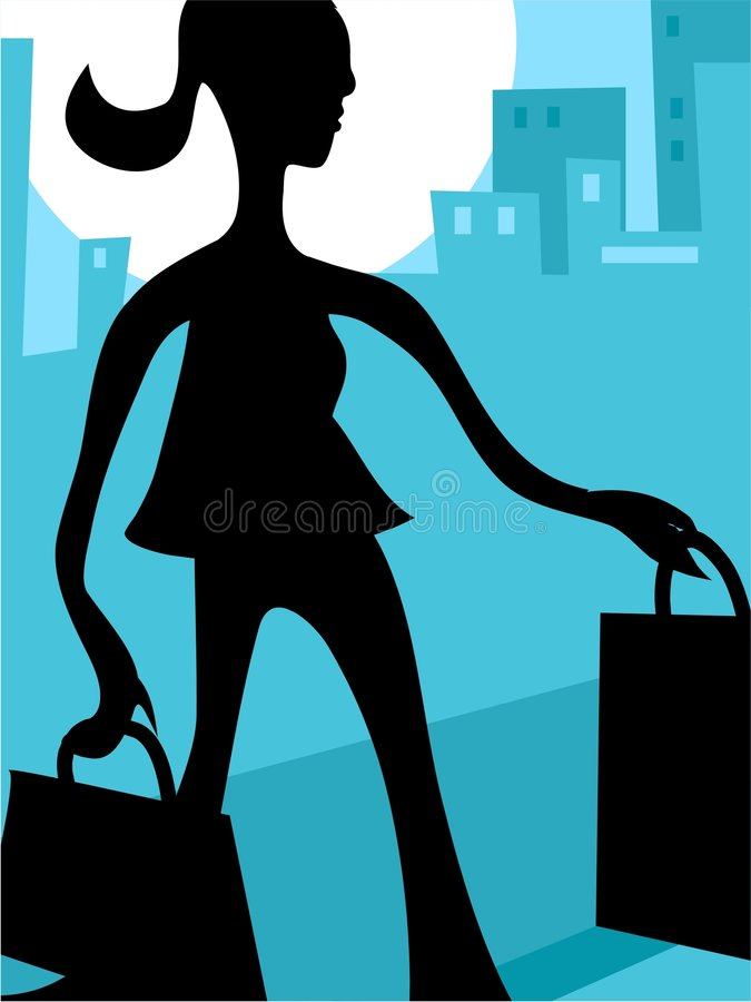 Download Shopping stock vector. Illustration of people, busy, feminine - 115528