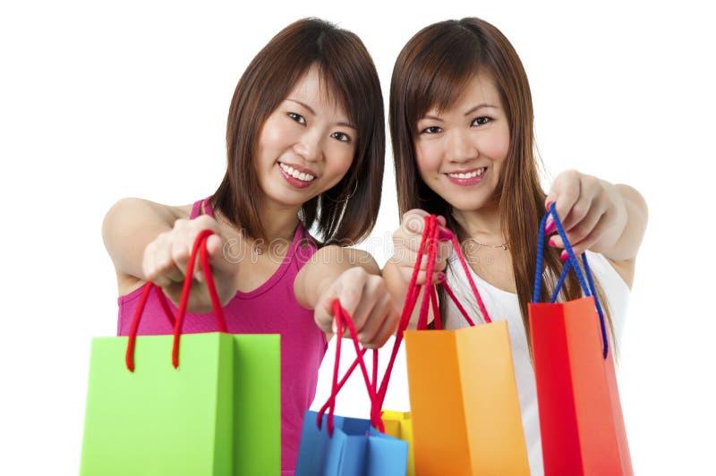 Shopping! fotografering för bildbyråer