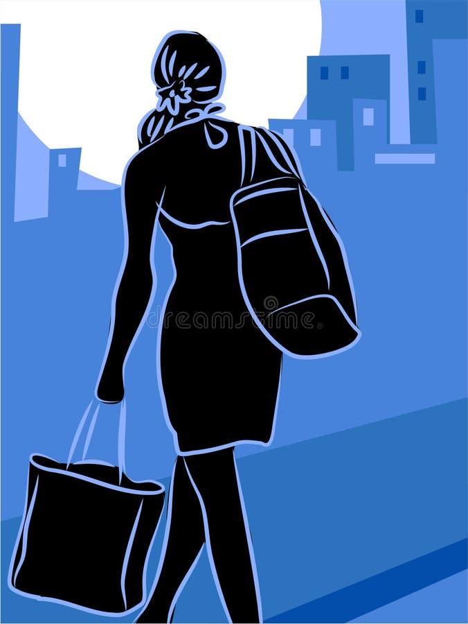 shopping royaltyfri illustrationer