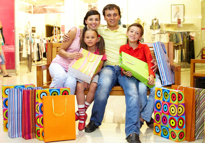 Download Shopping stock image. Image of childhood, casual, father - 22852561