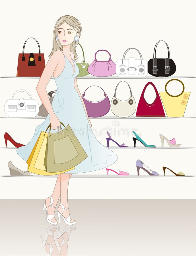 Shopping stock illustration
