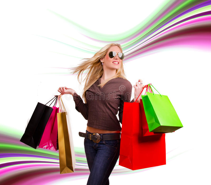 Download Shopping stock photo. Image of female, mall, crazy, action - 23850832