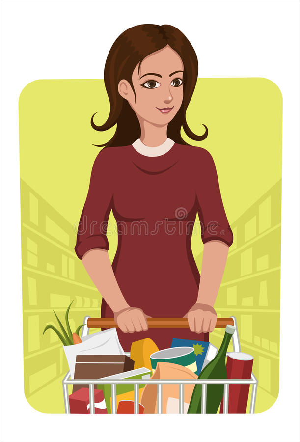 Download Shopping stock vector. Image of basket, activity, push - 24404601