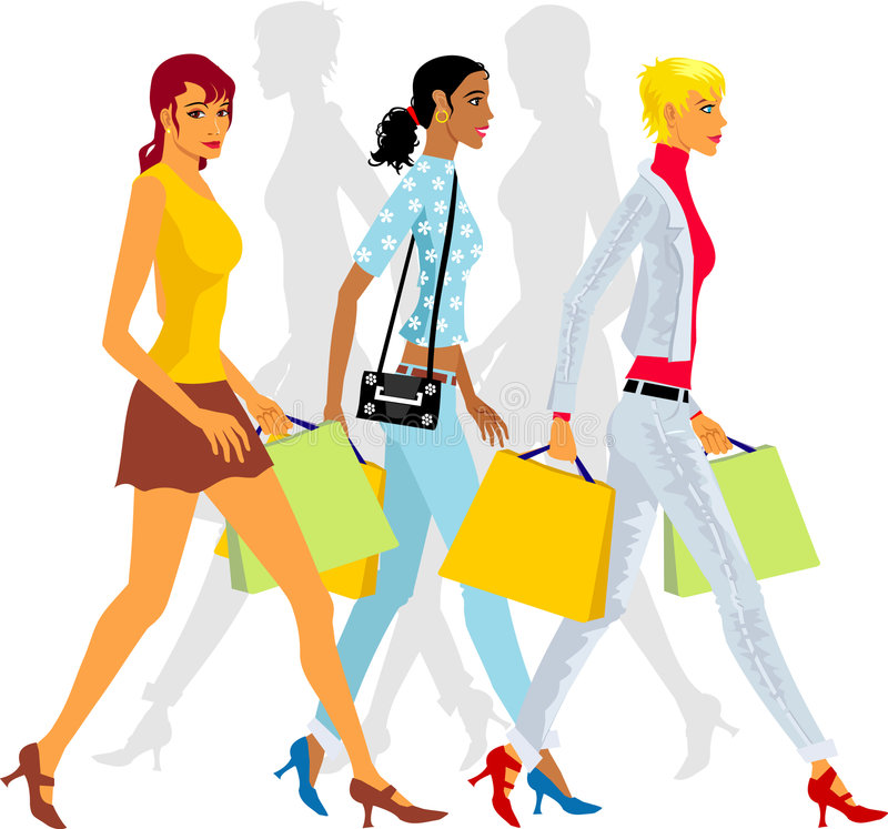 Download Shopping stock vector. Image of women, illustration, girls - 2782256