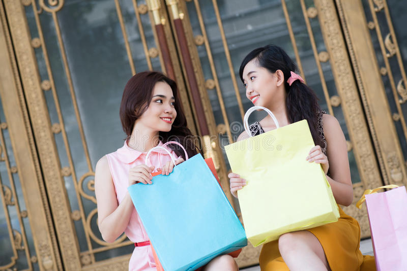 After shopping stock images