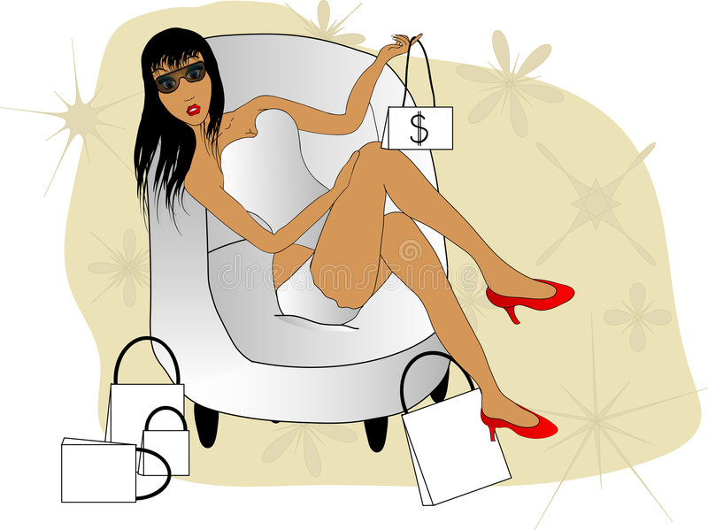 Download Shopping stock illustration. Image of adult, girl, illustration - 3034449