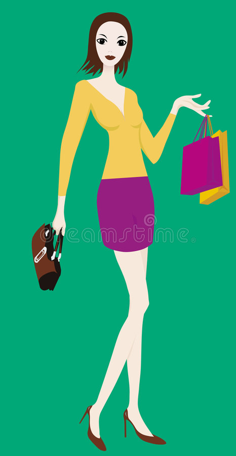 Download Shopping stock vector. Image of lady, girl, relax, shop - 4627515