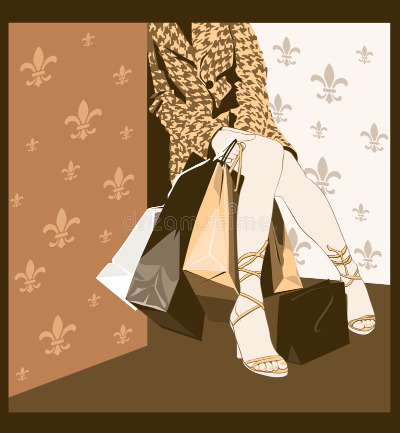 After shopping stock illustration