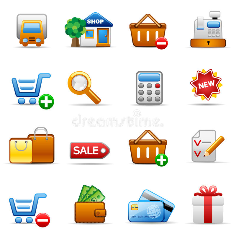 Shopping. Set of icons on an shopping theme