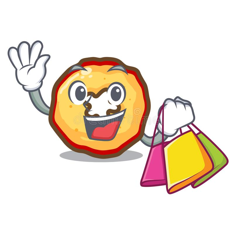 Shopping apple chips isolated with the mascot vector illustration