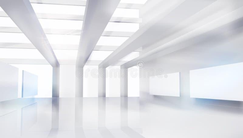 Large shopping mall. White background. Vector illustration. stock illustration