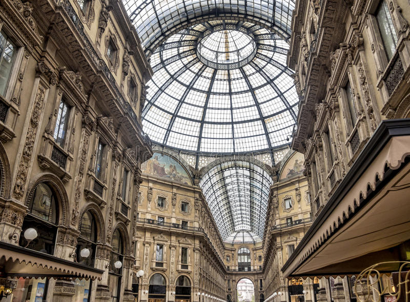 Shopping art gallery in Milan. Vittorio Emanuele II, Italy stock image
