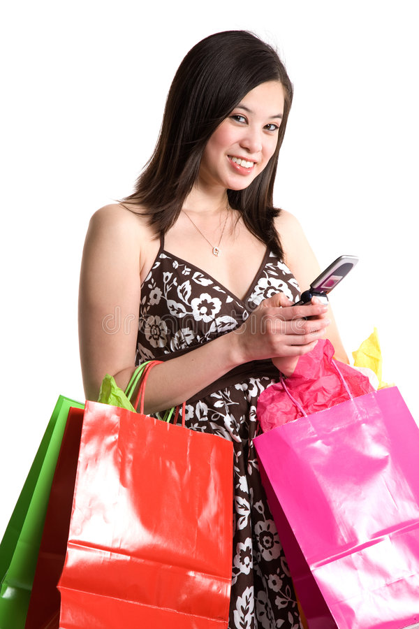 Download Shopping asian woman stock image. Image of holding, communication - 6263503