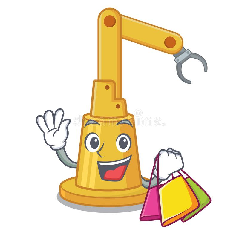 Shopping assembly automation machine the cartoon shape vector illustration