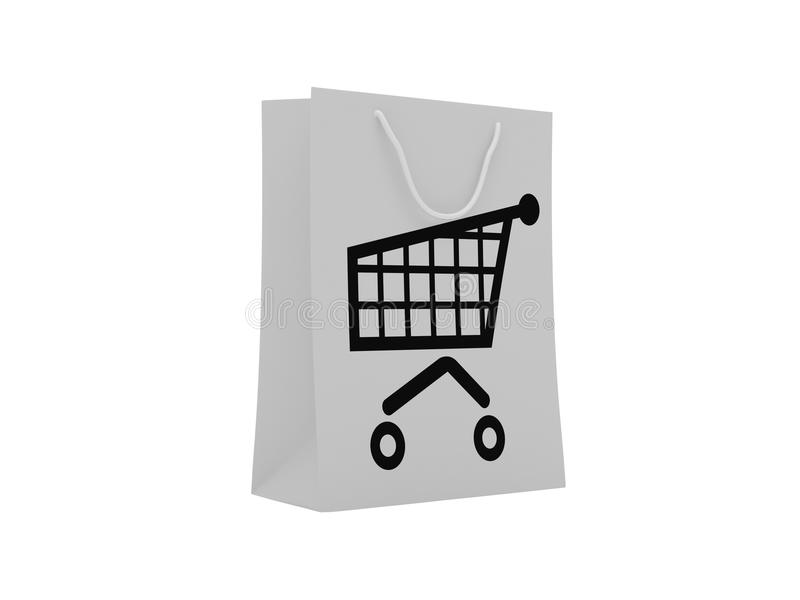 Download Shopping bag stock illustration. Image of store, checkout - 15334057