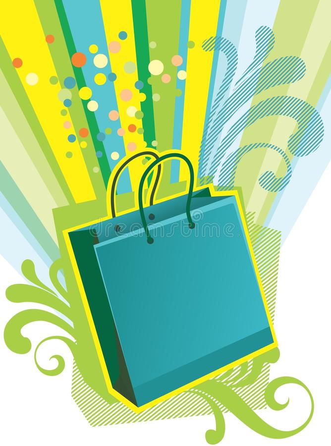 Shopping bag. Illustration of shopping bag for Sale design template