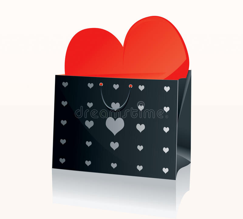 Free Shopping Bag Black 2 Royalty Free Stock Images - 10687769