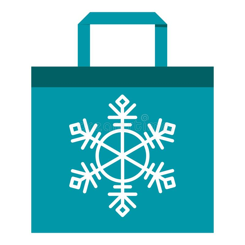 Shopping bag blue royalty free illustration