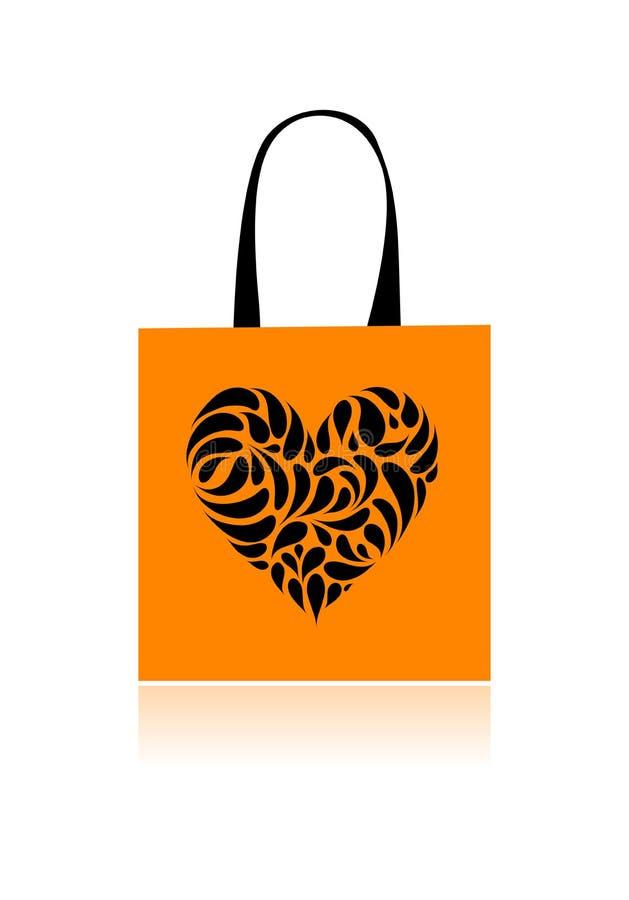 Download Shopping Bag Design, Floral Heart Shape Stock Vector - Illustration: 16570228