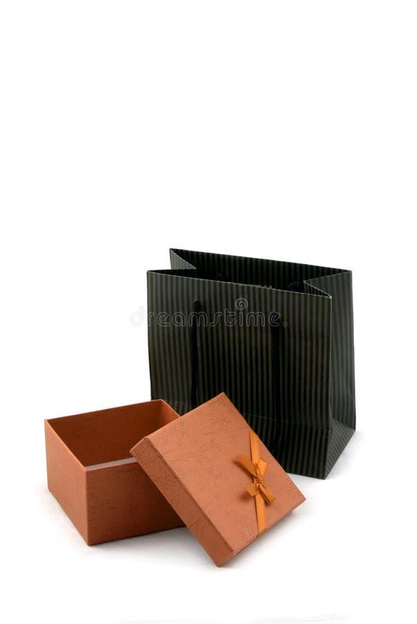 Shopping Bag and Gift Box stock image