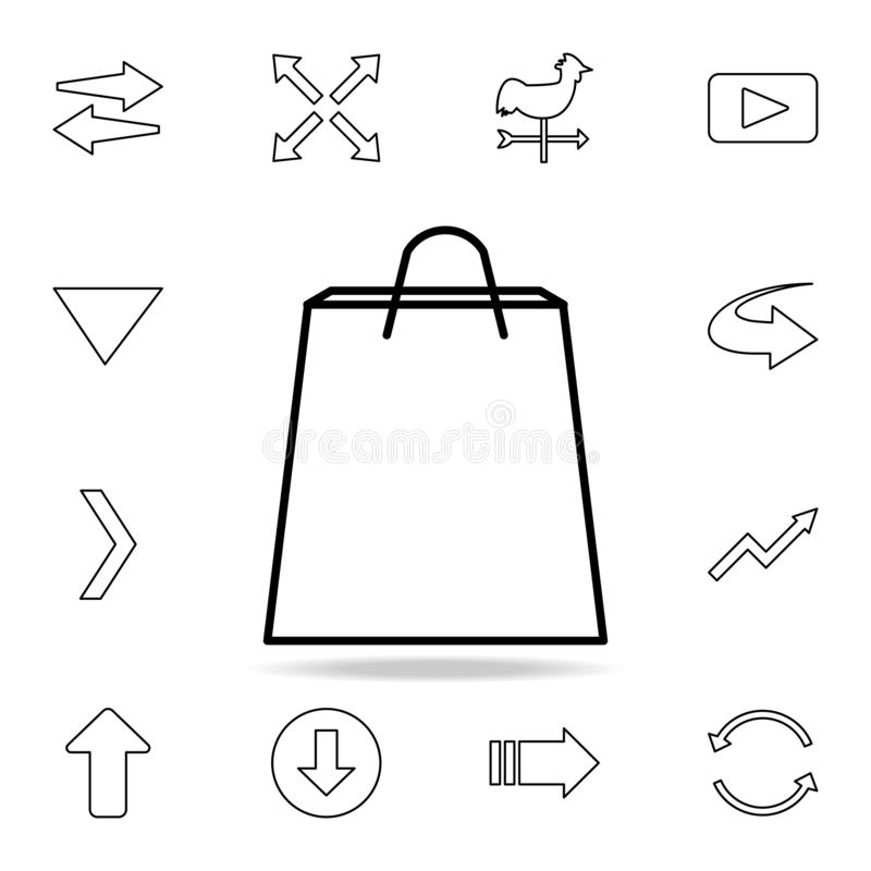 Shopping bag icon. Detailed set of simple icons. Premium graphic design. One of the collection icons for websites, web design,. Mobile app on white background vector illustration