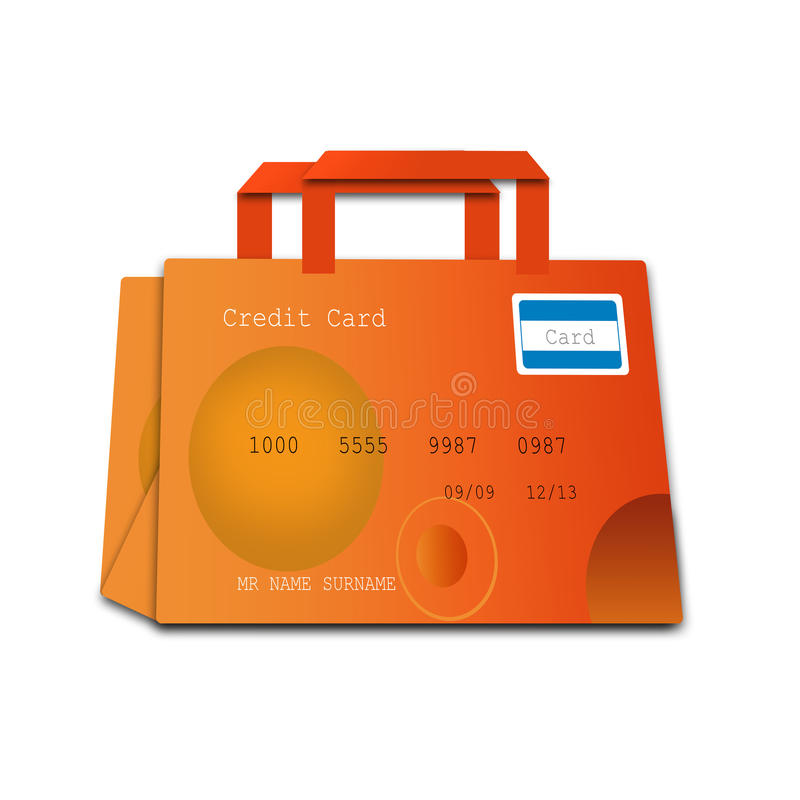 Free Shopping Bag Made Of Credit Cards Royalty Free Stock Photos - 20937318