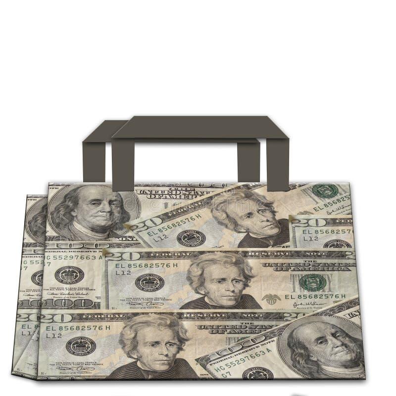 Free Shopping Bag Made Of Dollars Stock Image - 20937401