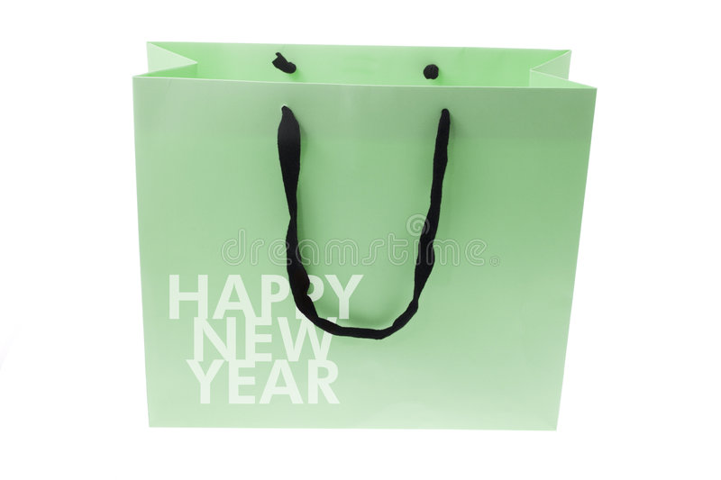 Download Shopping Bag With New Year Greetings Stock Image - Image: 6740861