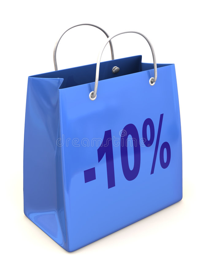 Download Shopping bag with percent stock illustration. Image of marketing - 5651875