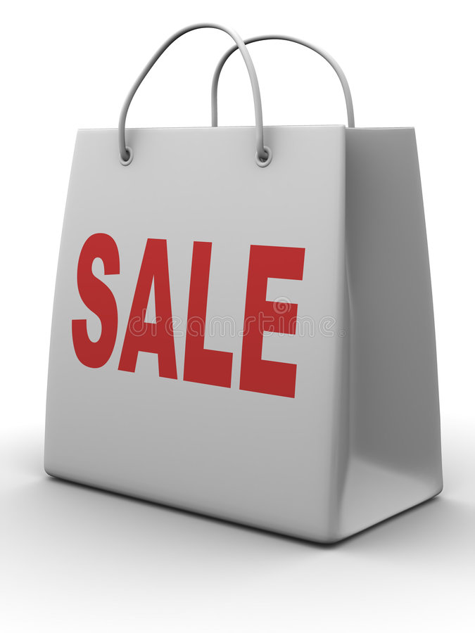 Free Shopping Bag. Sale Royalty Free Stock Photography - 5652127