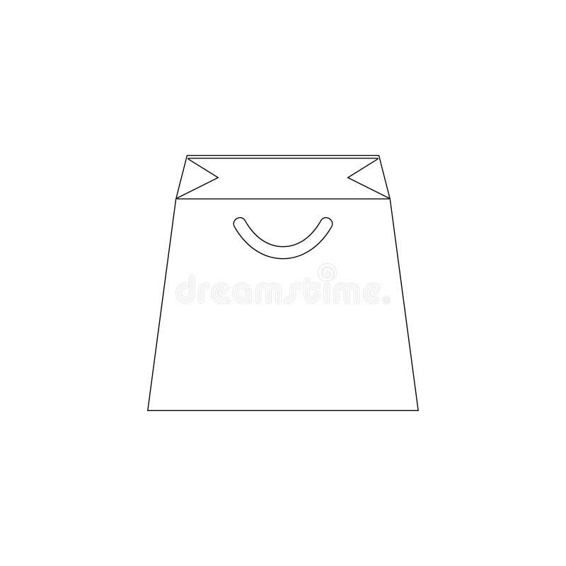 Shopping bag. flat vector icon vector illustration