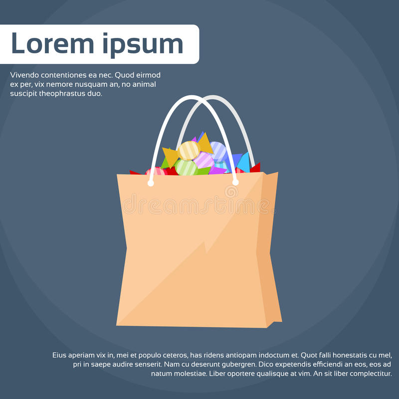 Shopping Bag WIth Treat or Trick Vector royalty free illustration