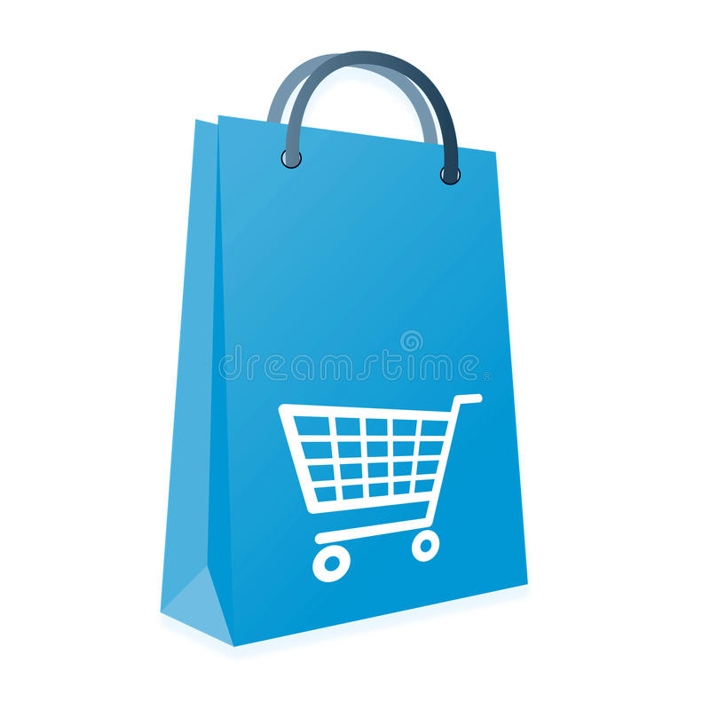 Download Shopping bag and trolly stock illustration. Image of credit - 32207264