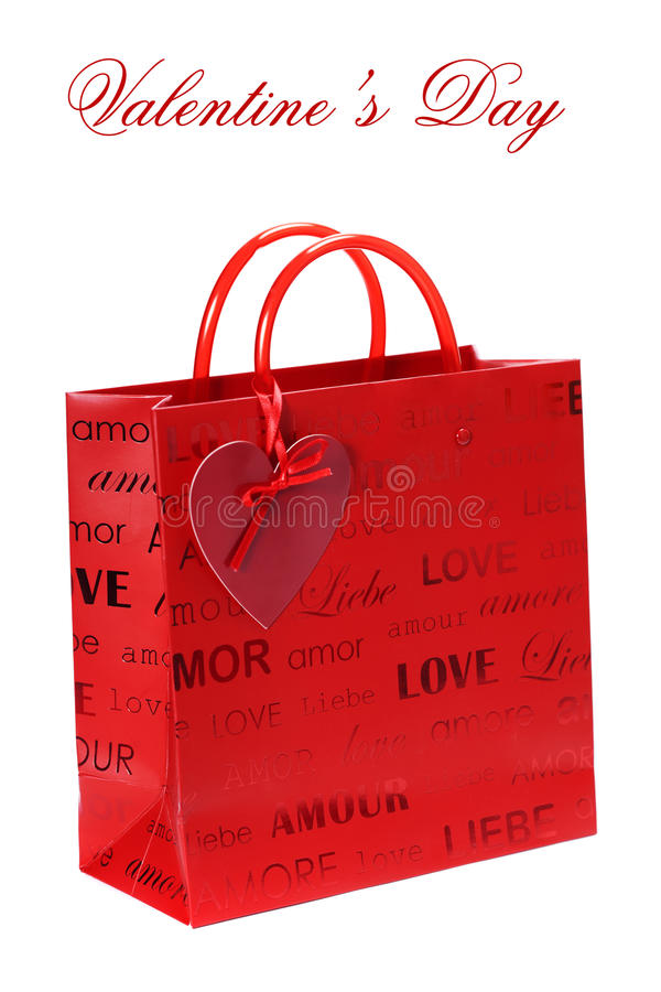 Download Shopping Bag For Valentine's Day Stock Image - Image: 23197295