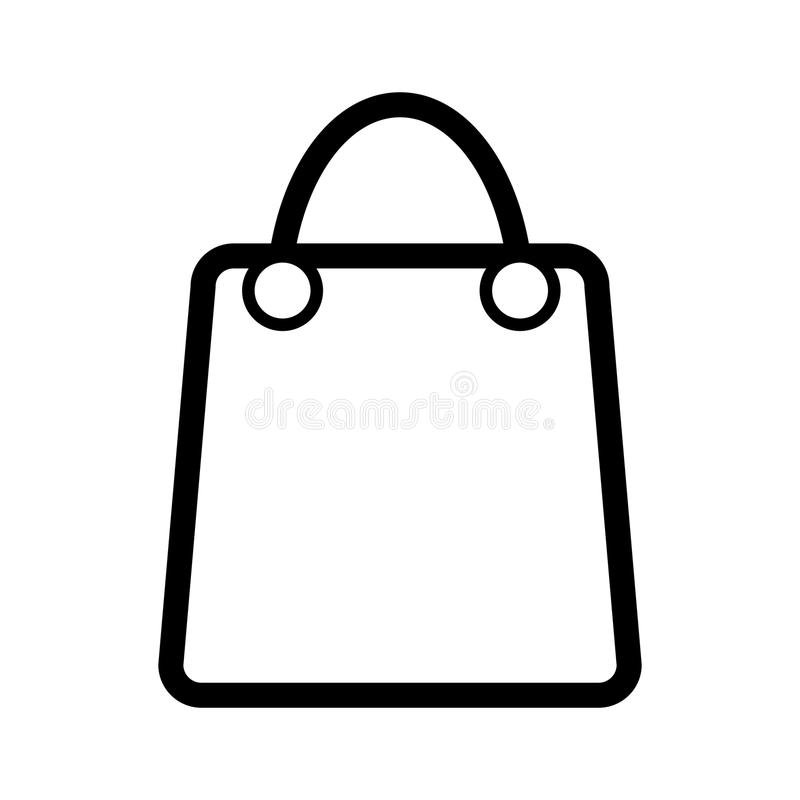 shopping bag vector icon black and white bag illustration with rh dreamstime com shopping bag vector design shopping bag vector image