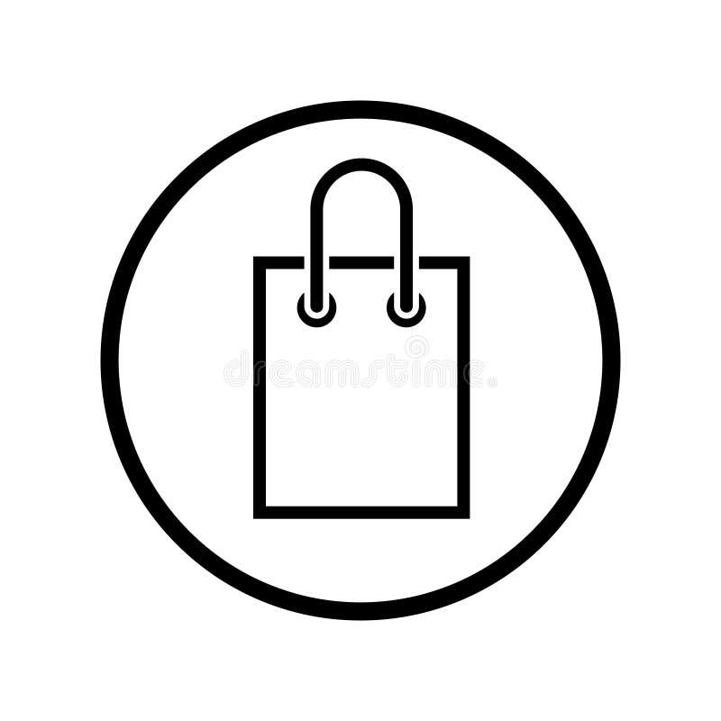 Shopping bag vector icon. Buy illustration symbol. For web sites. Shopping bag vector icon. Buy illustration symbol. For web sites or mobile vector illustration