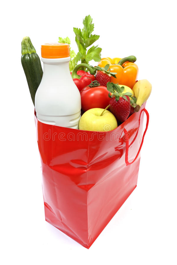 Free Shopping Bag With Groceries Royalty Free Stock Photos - 18764658