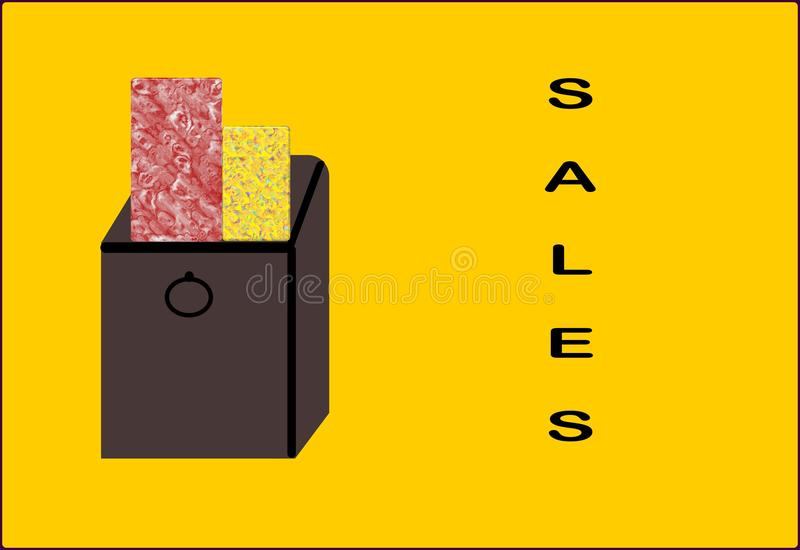 Download Shopping Bag With The Word Sales Stock Illustration - Illustration: 12586719