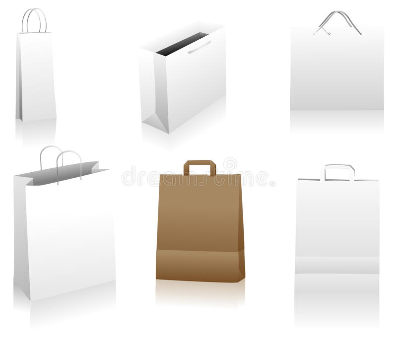 Download Shopping bags stock vector. Illustration of isolated - 10849395